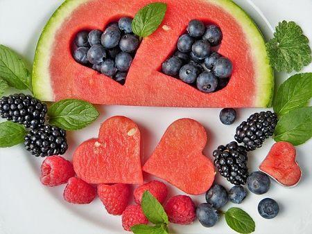fruta corazones diabetes 1