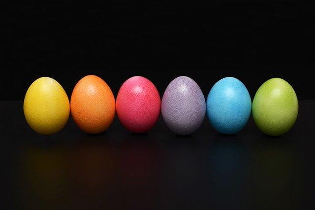 huevos colores dieta vegetariana 1