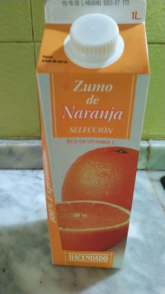 zumo de naranja hacendado 1