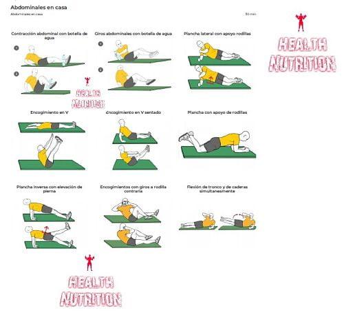 ejercicios hipotiroidismo abdominales en casa 1